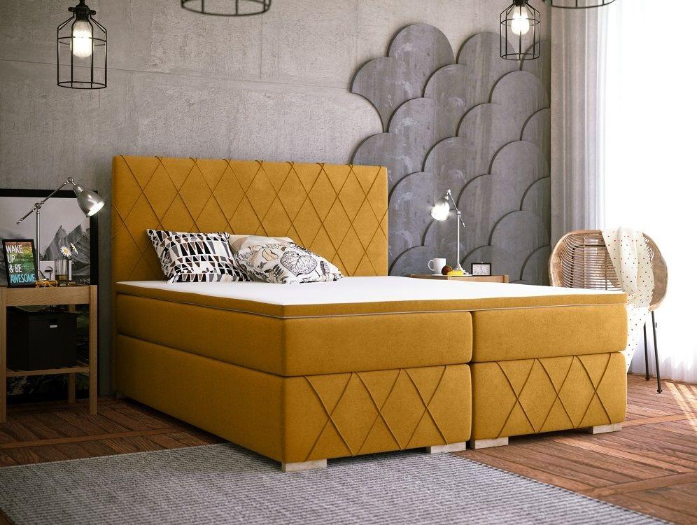 Łóżko tapicerowane kontynentalne MOLTEN