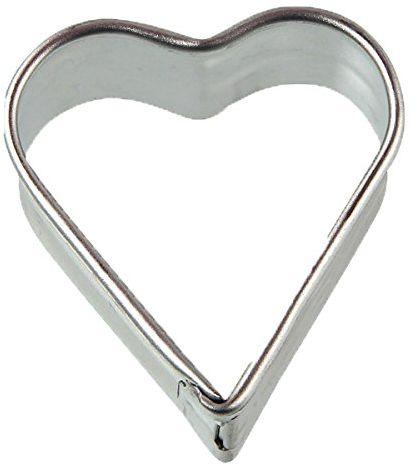 Zenker 7763 Foremka do ciasteczek w kształcie serca ze stali nierdzewnej, srebrny, 5,5 x 5,5 x 1,7 cm