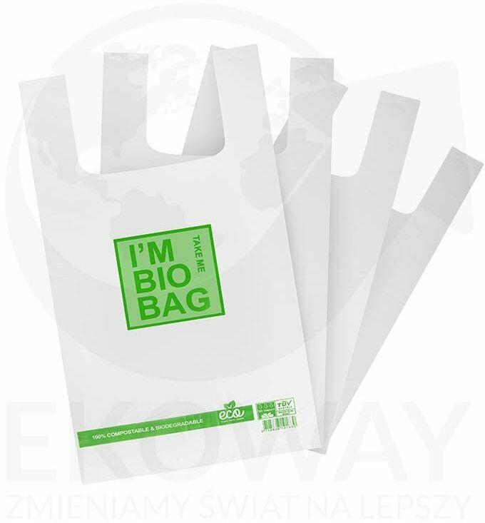 Reklamówki biodegradowalne 28X48 10x50szt/opak.