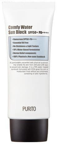 PURITO Comfy Water Sun Block - Nawilżający krem przeciwsłoneczny SPF50+ PA+++ 60 ml