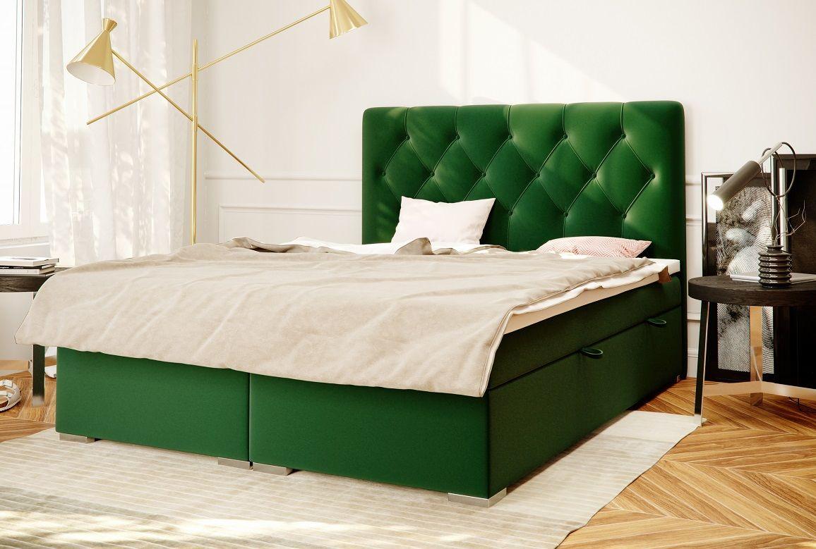 Łóżko tapicerowane kontynentalne PIKO