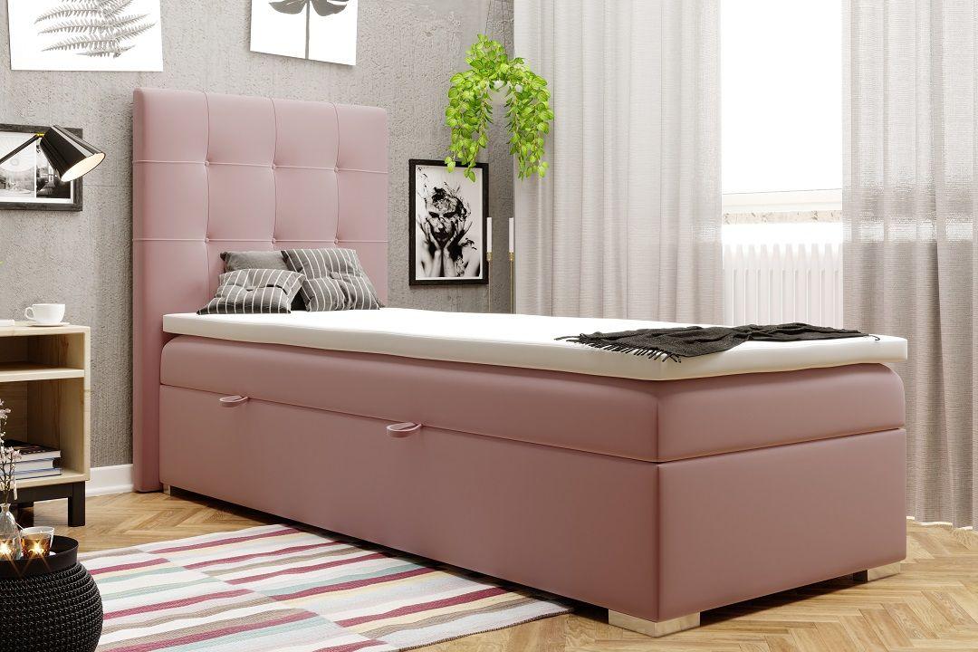 Łóżko tapicerowane kontynentalne XENA