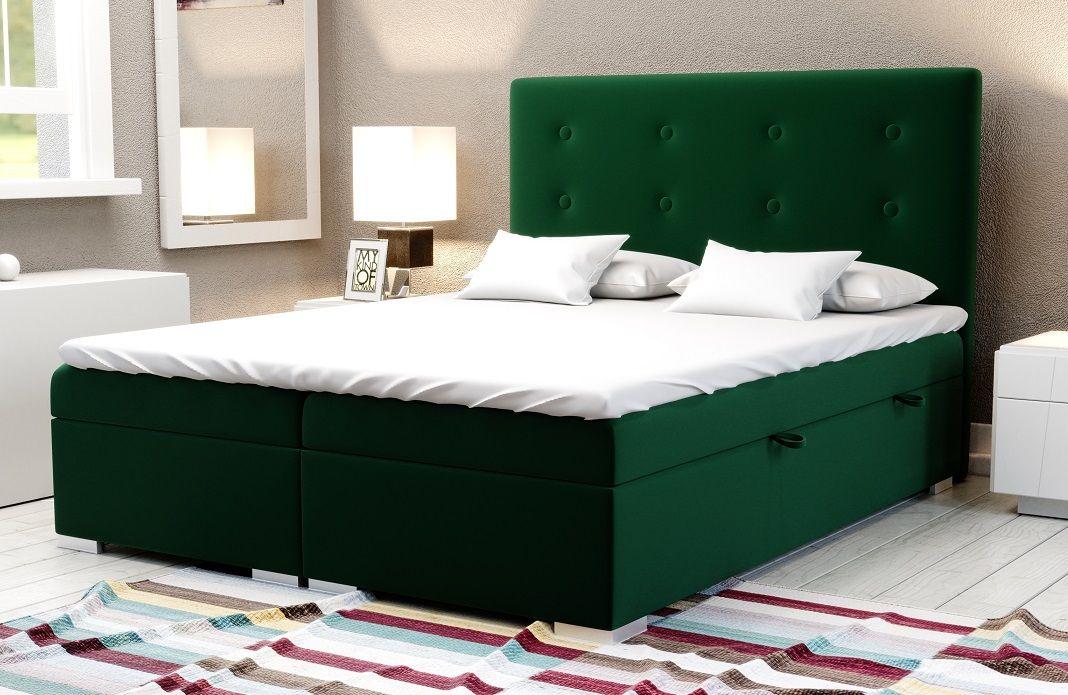 Łóżko tapicerowane kontynentalne MALVA