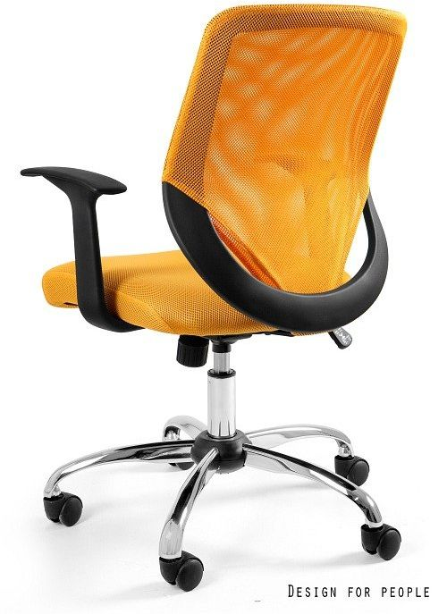Fotel biurowy MOBI żółty  Kupuj w Sprawdzonych sklepach
