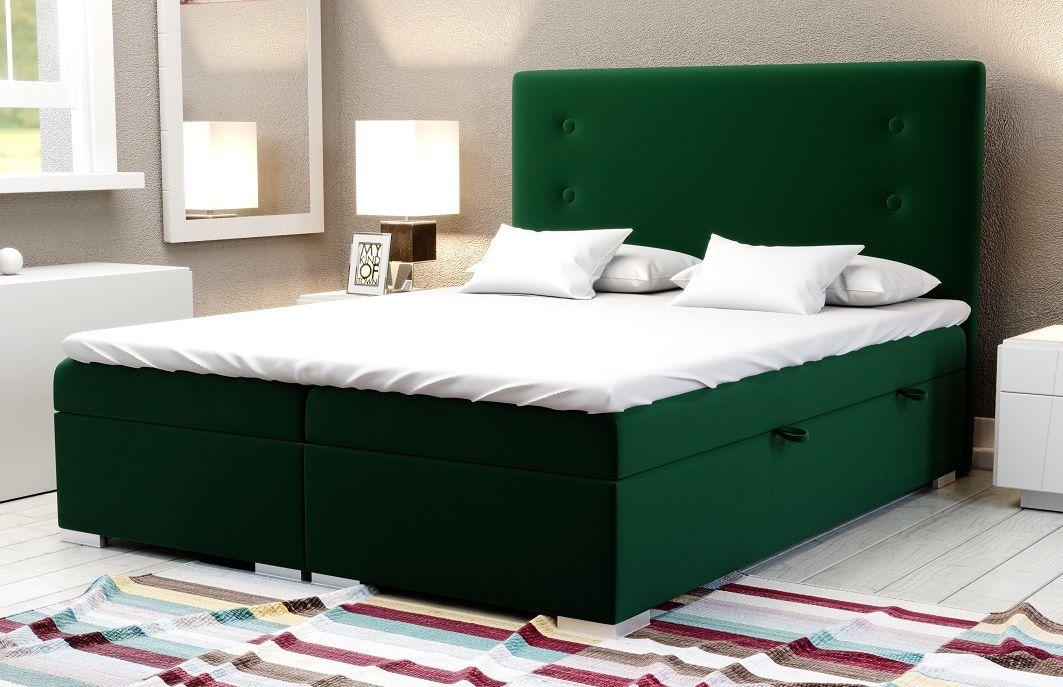 Łóżko tapicerowane kontynentalne MALVA BIS