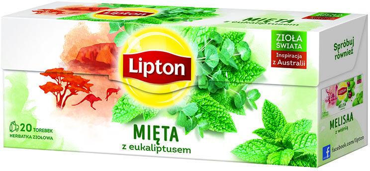 Herbata Lipton Mięta z eukaliptusem 20 torebek