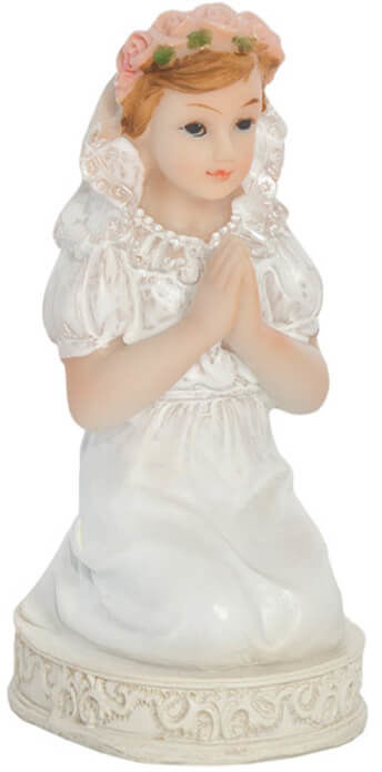 Figurka gipsowa komunijna dziewczynka, 11 cm, 1 szt.