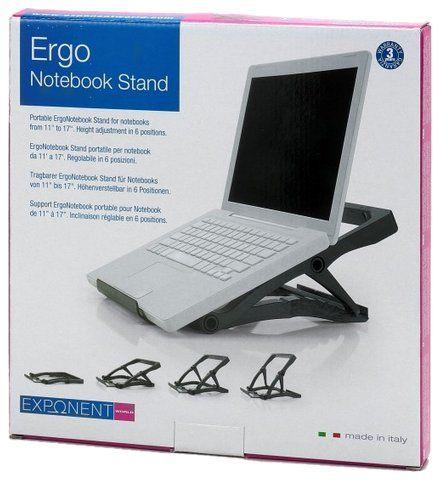 Przenośna podstawka pod laptop Exponent World 56301, czarny, 3cm po złożeniu