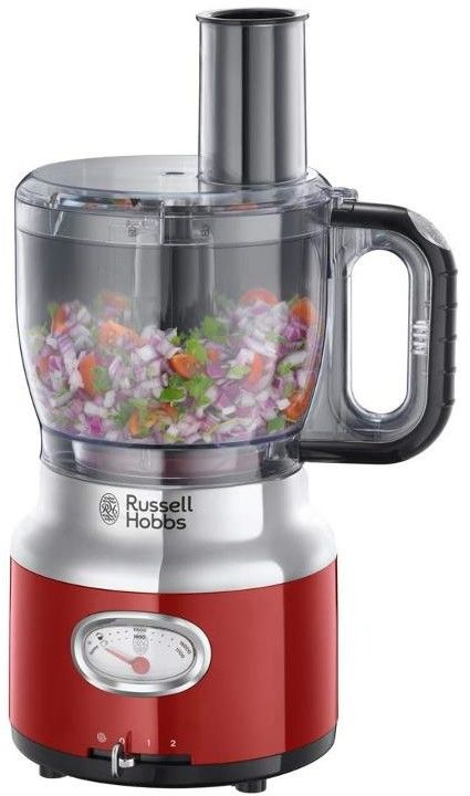 RUSSELL HOBBS Robot kuchenny Retro Food Processor - Red 25180-56