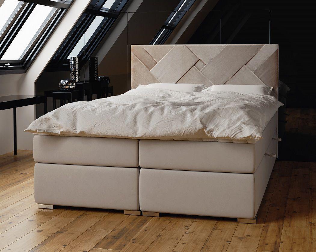Łóżko tapicerowane kontynentalne TROPEA