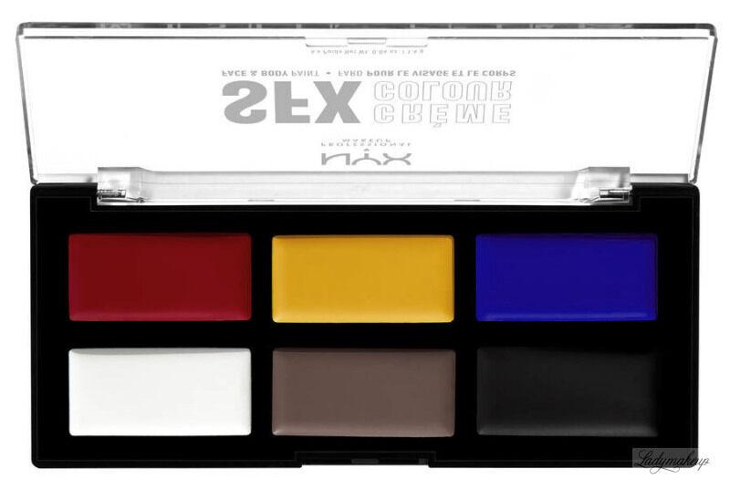 NYX Professional Makeup - SFX CREME COLOUR Face & Body Paint - Paleta 6 farb do twarzy i ciała - PRIMARY