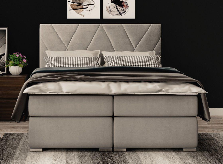 Łóżko tapicerowane kontynentalne SYDNEY