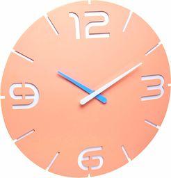 TFA Dostmann Contour Design zegar ścienny sterowany radiowo, ekskluzywne wzornictwo, różowo-morelowy, 60.3536.16