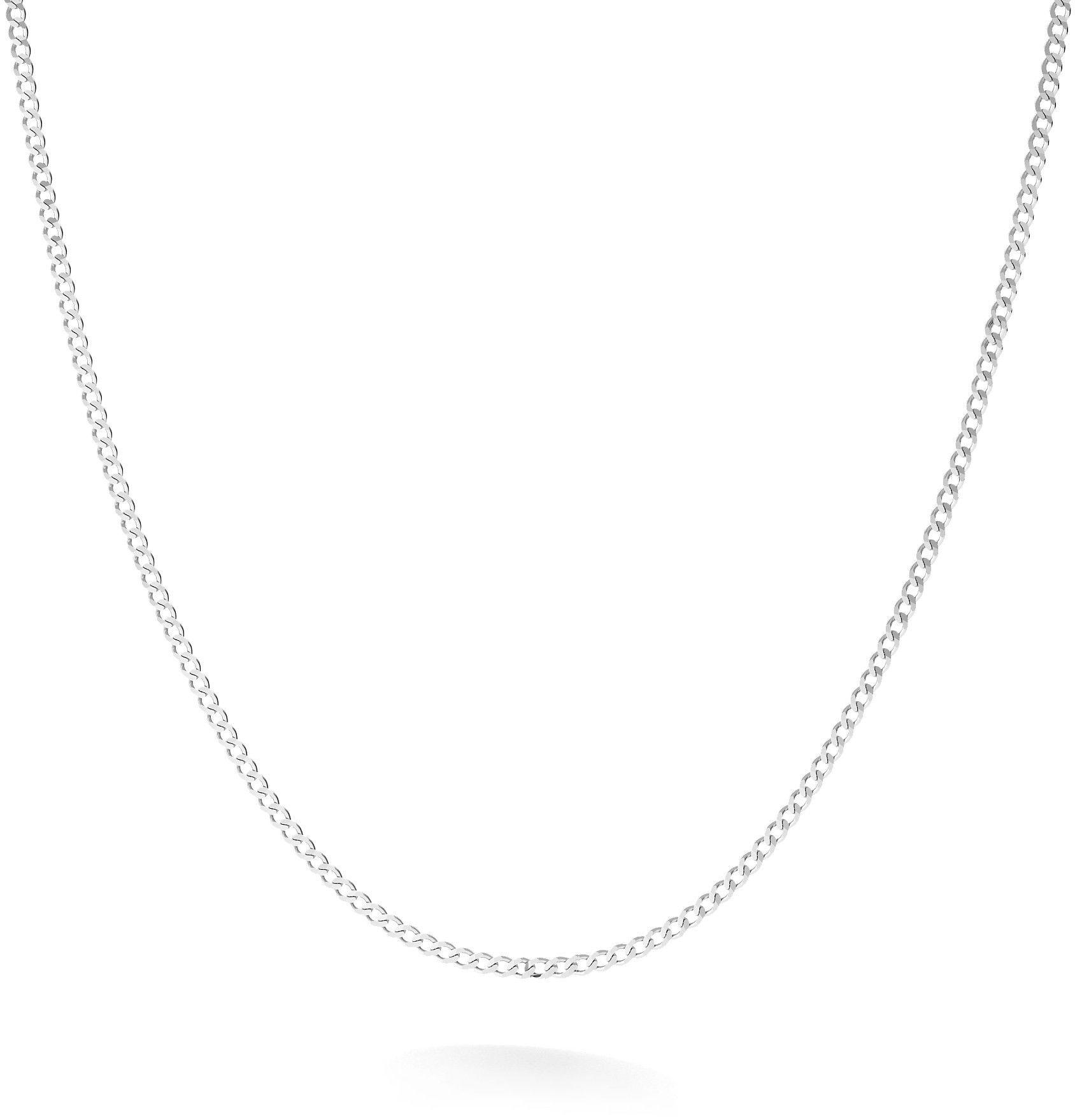 Srebrny łańcuszek pancerka diamentowana, srebro 925 : Długość (cm) - 90, Srebro - kolor pokrycia - Pokrycie platyną