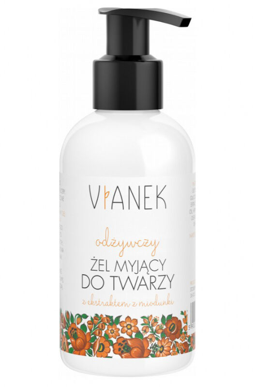 VIANEK - Odżywczy żel myjący do twarzy z ekstraktem z miodunki - 150ml