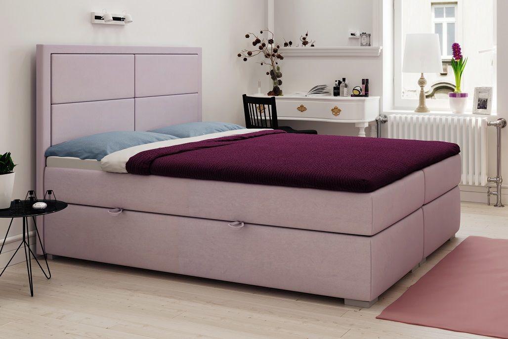 Łóżko tapicerowane kontynentalne RICARDO
