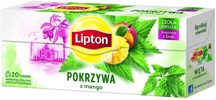 Herbata Lipton Pokrzywa z mango 20 torebek