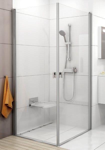Kabina prysznicowa kwadratowa Ravak Chrome narożna CRV1+CRV1 80x80 cm, wys. 195 cm, Biały+Transparent 1QV40101Z1/1QV40101Z1