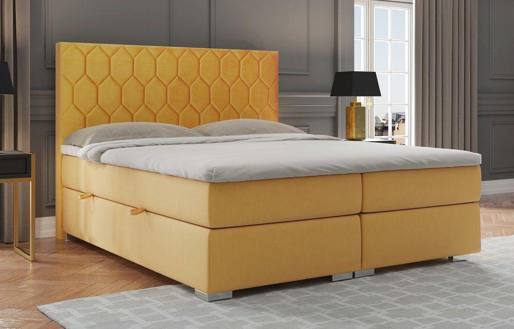 Łóżko tapicerowane kontynentalne SISI