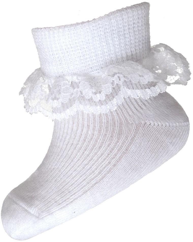 Skarpetki bawełniane z koronką