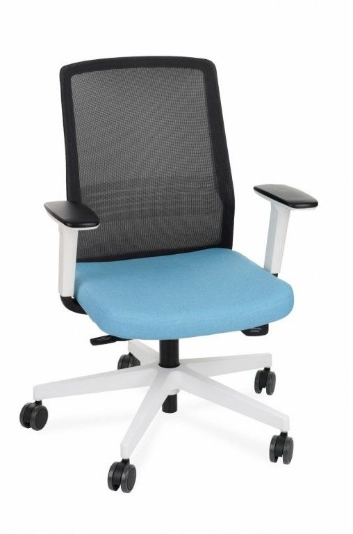 Grospol Krzesło biurowe Coco WS white tkanina Medley - 12 kolorów --- OFICJALNY SKLEP Grospol