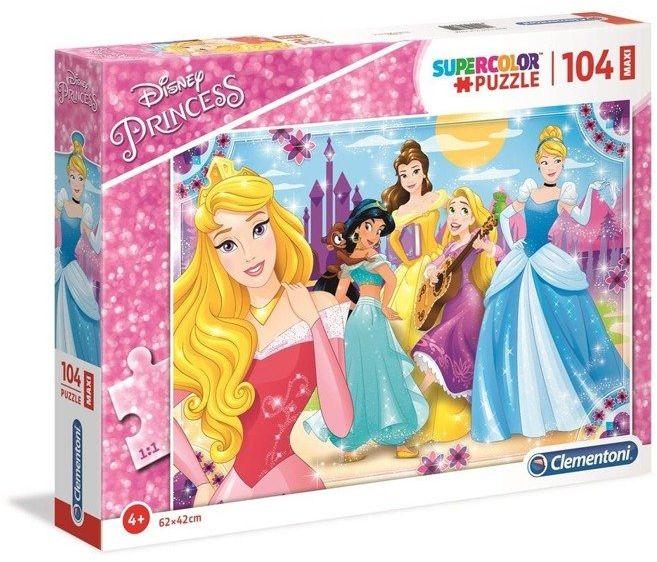 Puzzle 104 Maxi Superkolor Princess - Clementoni
