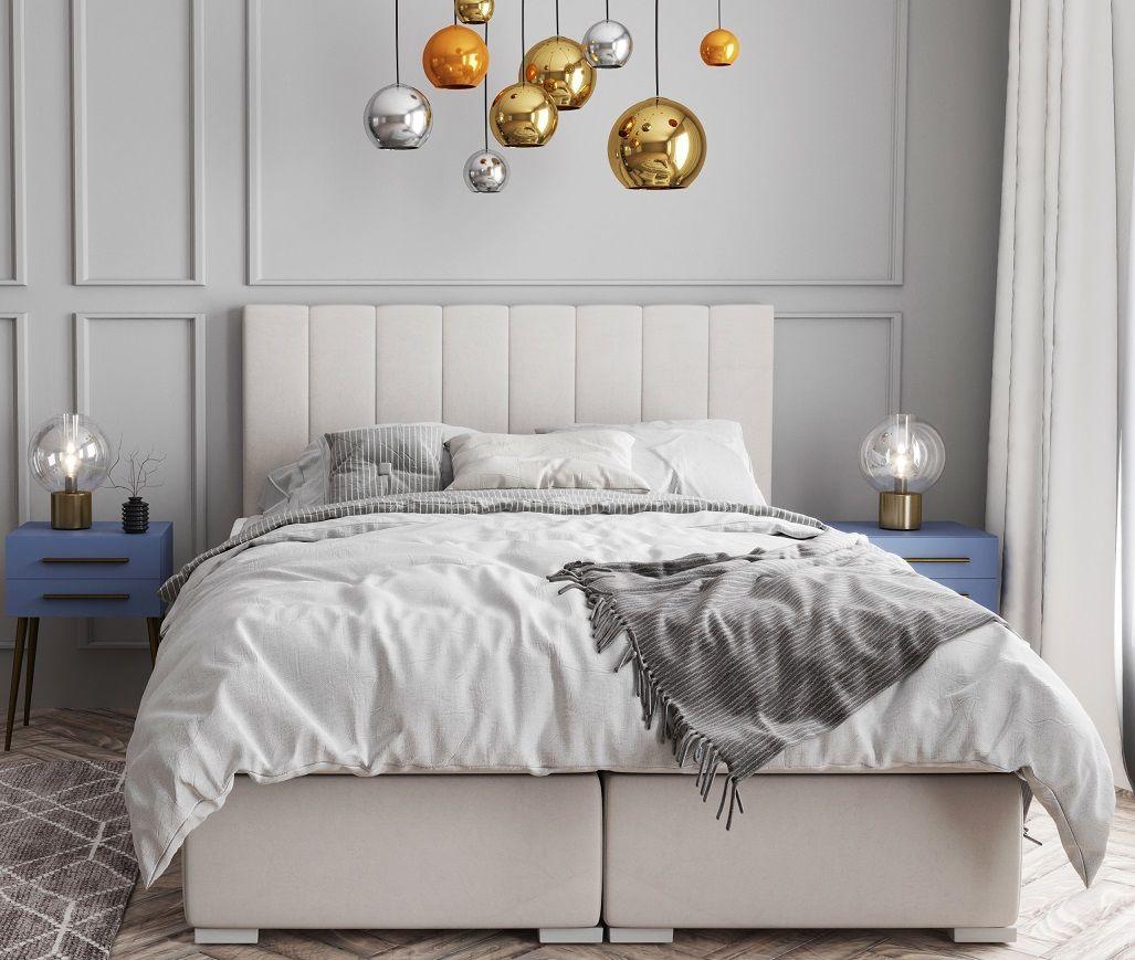 Łóżko tapicerowane kontynentalne BERNARDO