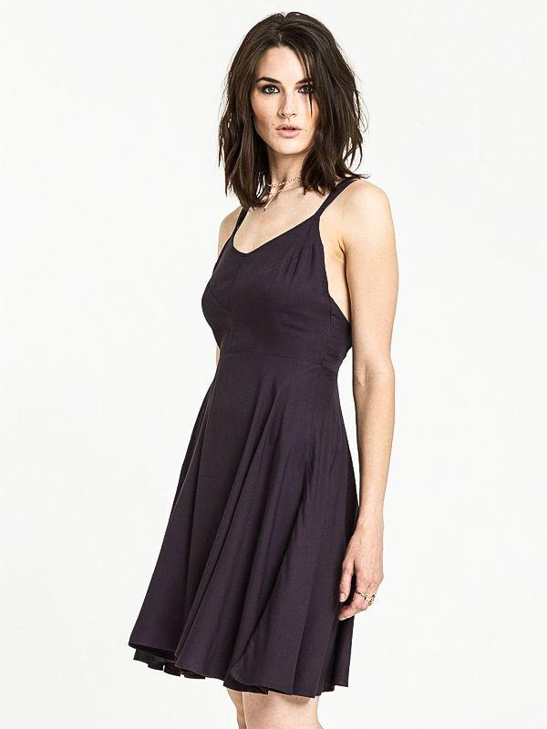 Element HEART TWILL OFF BLACK krótkie sukienki - S