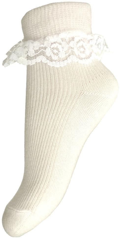 Skarpetki bawełniane z koronką...