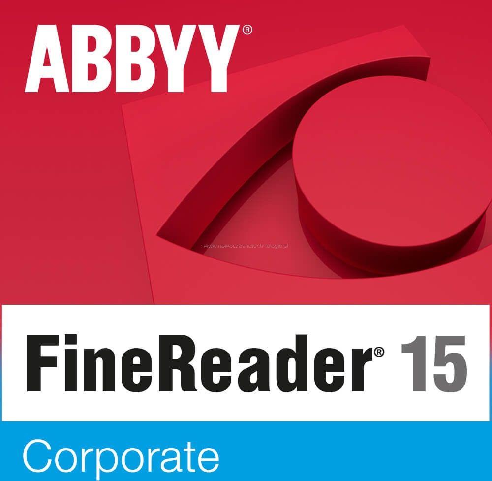 ABBYY FineReader 15 Corporate (pojedynczy użytkownik) licencja wieczysta - Certyfikaty Rzetelna Firma i Adobe Gold Reseller
