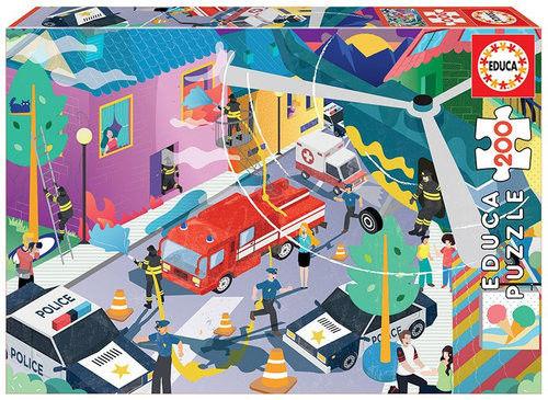 Puzzle dla dzieci Educa 200 Pojazdy uprzywilejowane