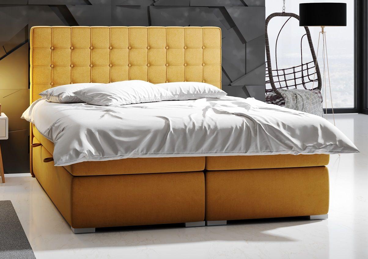Łóżko tapicerowane kontynentalne MARCO