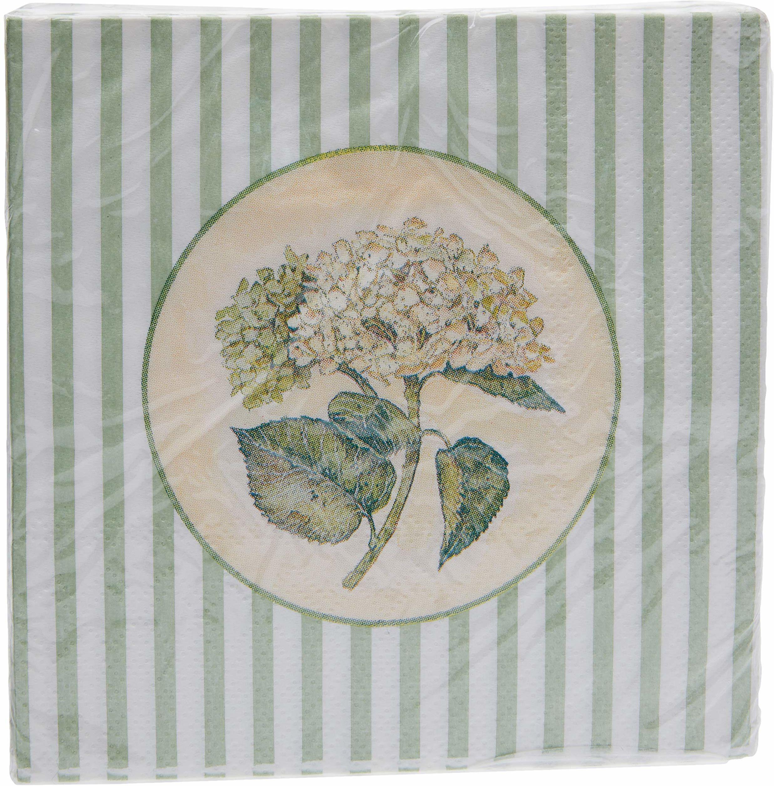 Better & Best małe serwetki z masy celulozowej hortensja, zielone, wymiary: 12,5 x 12,5 x 1,5 cm
