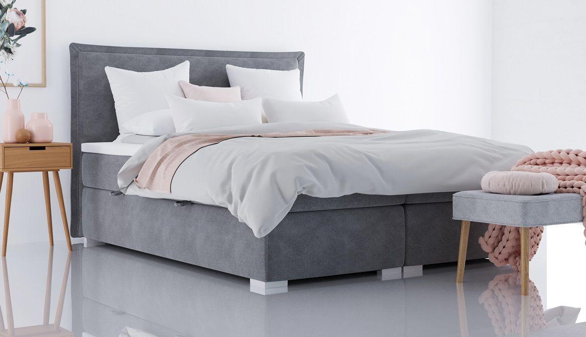 Łóżko tapicerowane kontynentalne SIMPLE