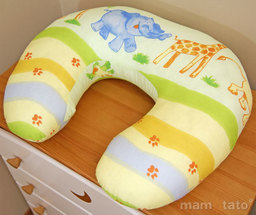 "MAMO-TATO Poszewka na poduszkę do karmienia ""ROGAL"" Safari"