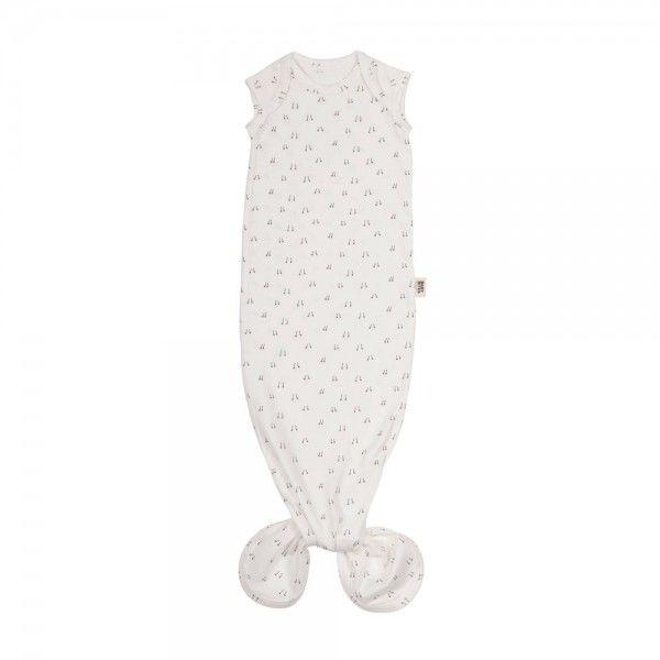 Baby Bites - Śpioszki Baby Gown egg (0 - 3 Miesięcy) White