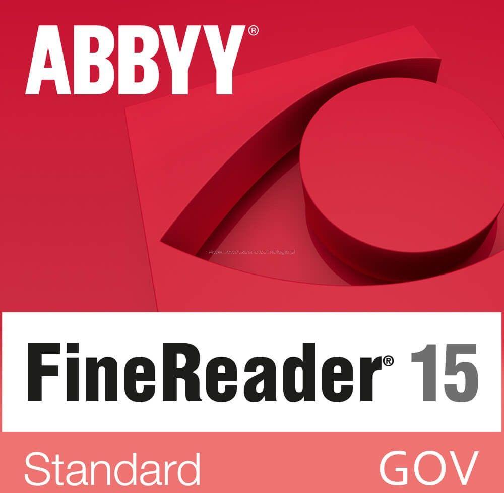 GOV - ABBYY FineReader 15 Standard (pojedynczy użytkownik) licencja wieczysta - Certyfikaty Rzetelna Firma i Adobe Gold Reseller