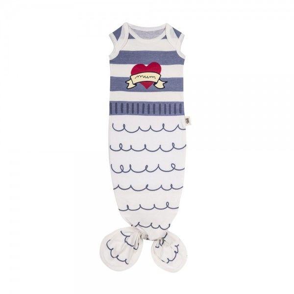 Baby Bites - Śpioszki Baby Gown Sailor (0 - 3 Miesięcy) Blue