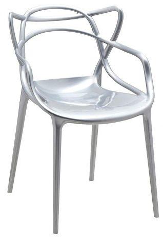 Krzesło Orbit - inspirowane proj. Masters - silver