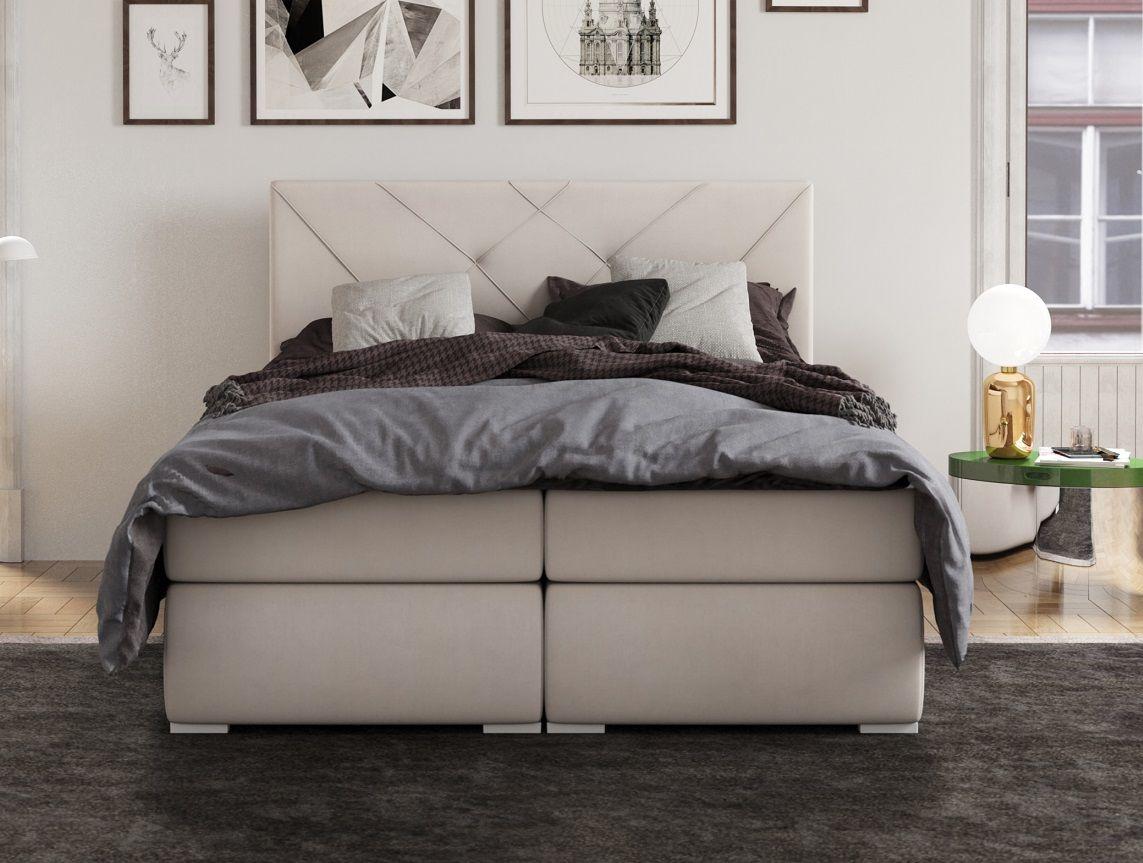 Łóżko tapicerowane kontynentalne GARDA