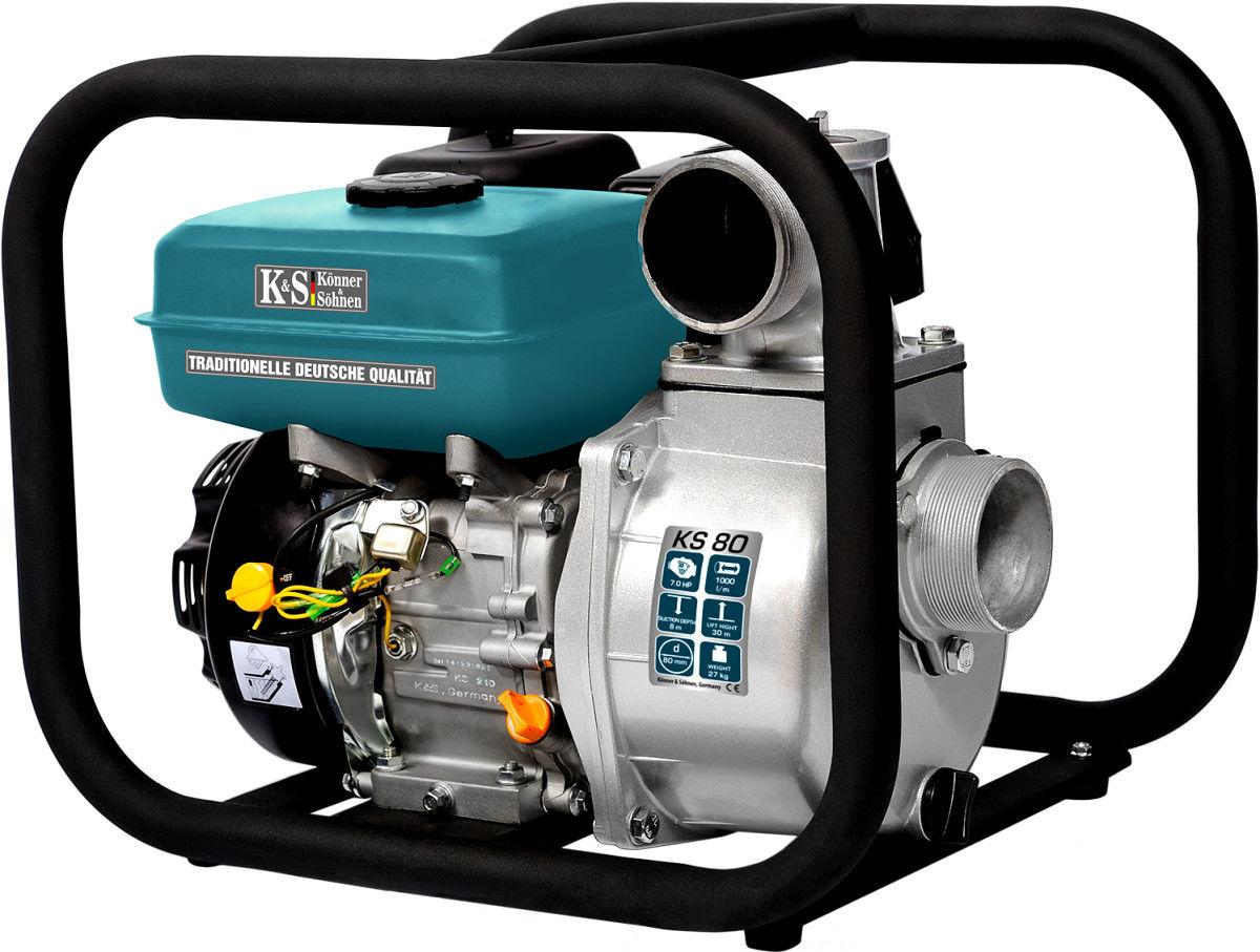 Pompa spalinowa do wody K&S KS80 7KM 1000l/min