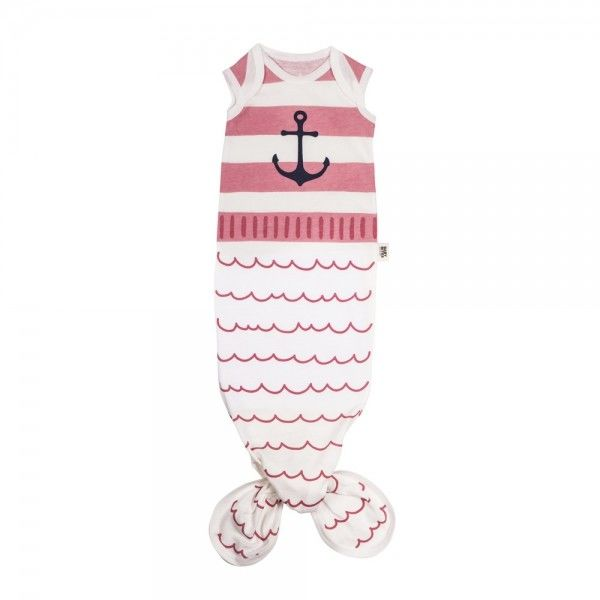 Baby Bites - Śpioszki Baby Gown Sailor (0 - 3 Miesięcy) Pink