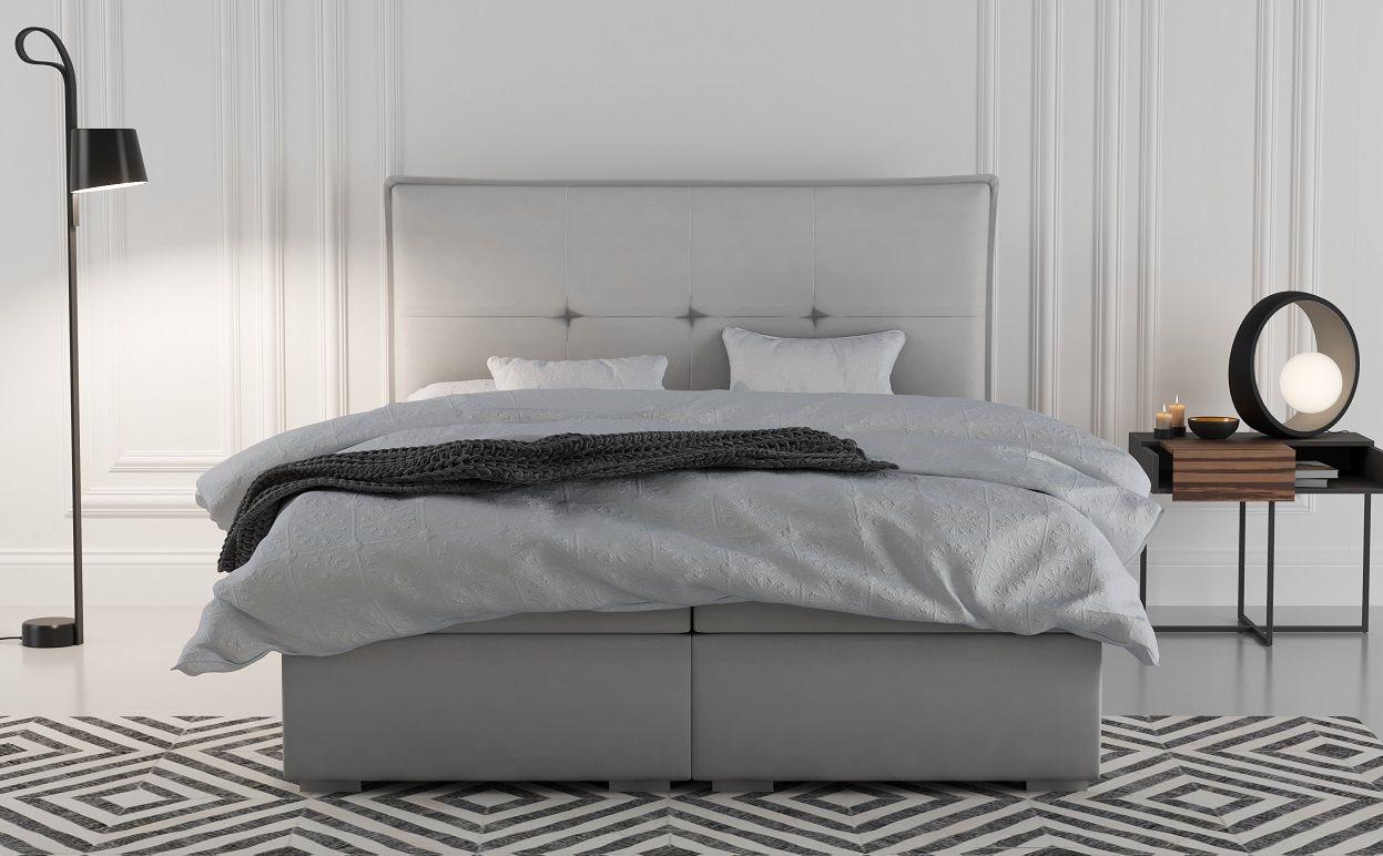 Łóżko tapicerowane kontynentalne GIORGIO