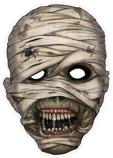 Maska papierowa Mumia 1szt MASP10