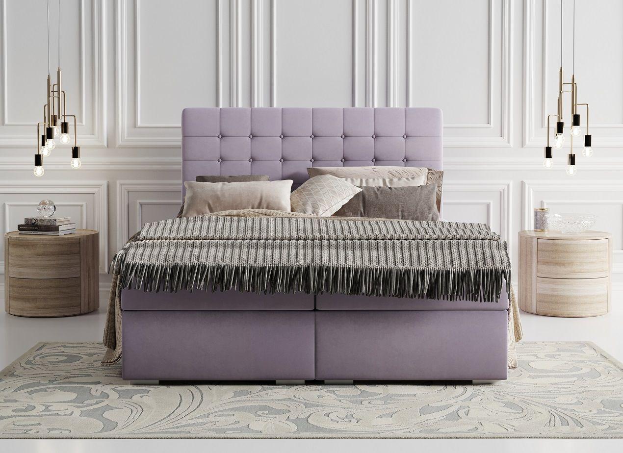 Łóżko tapicerowane kontynentalne VANO