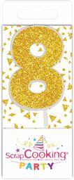 "Scrapcooking 0598 mini świeca ""Gold"", 8 sztuk"