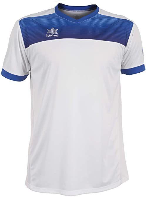 Luanvi Bolton męska koszulka tenisowa z krótkimi rękawami. biały biały 4XS