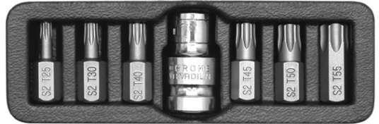 Końcówki wkrętakowe torx, kpl. 7 szt. Yato YT-0410 - ZYSKAJ RABAT 30 ZŁ