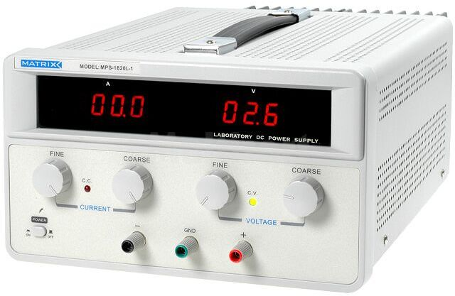 Zasilacz laboratoryjny Kanały:1 0 18VDC 0 20A