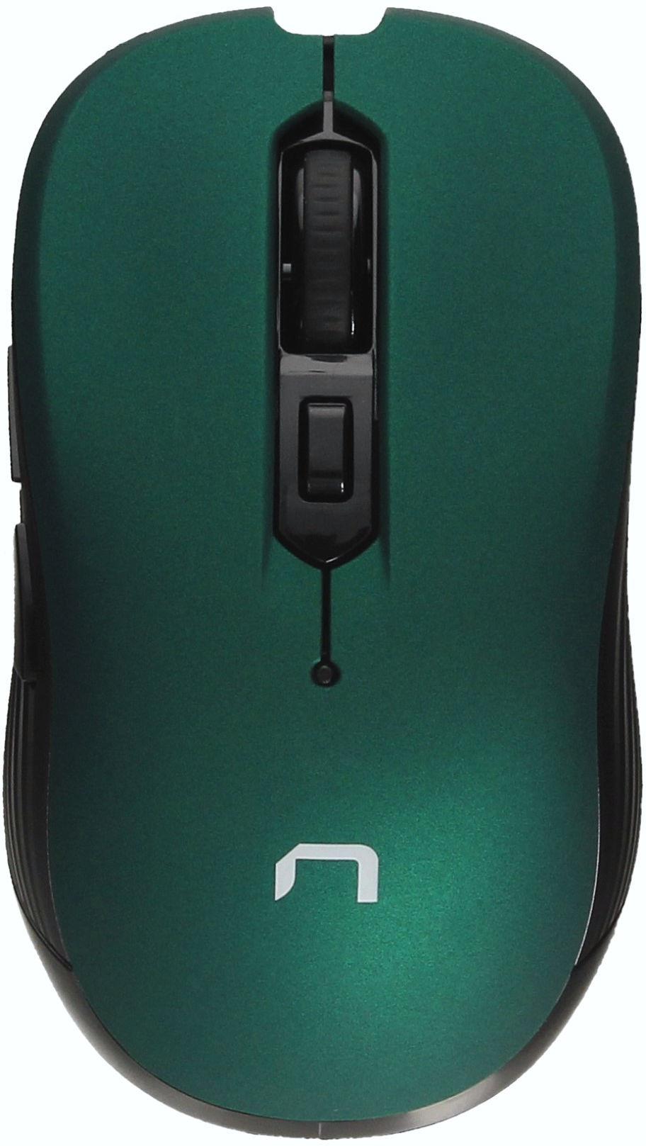 Mysz optyczna bezprzewodowa USB zielona Natec Robin